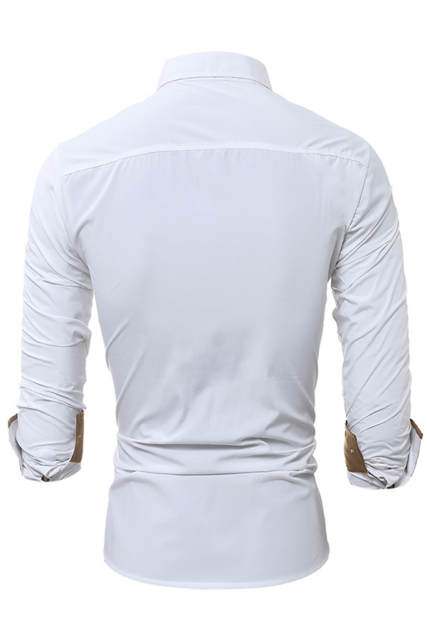 Lovely Casual Turndown Collar Buttons Design White Shirt