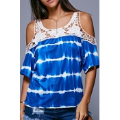 Lovely Casual O Neck Off The Shoulder Hollow-out B