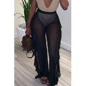 Lovely Sexy See-through Black Pants(Without Lining