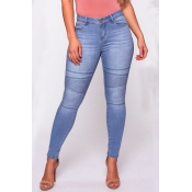 Lovely Street Skinny Baby Blue Jeans