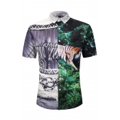 Lovely Trendy Animal Printed Multicolor Shirt