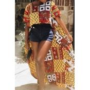 Lovely Trendy Asymmetrical Multicolor T-shirt