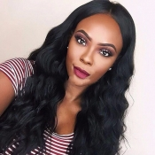 Lovely Trendy Long Curly Synthetic Black Wigs