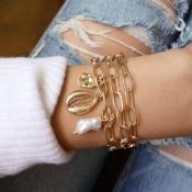 Lovely Chic Cascading Gold Alloy Bracelet