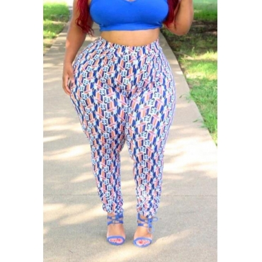Lovely Leisure Printed Multicolor Plus Size Pants