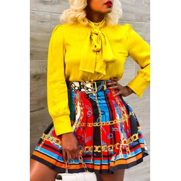 Lovely Casual Printed Multicolor Mini Skirt