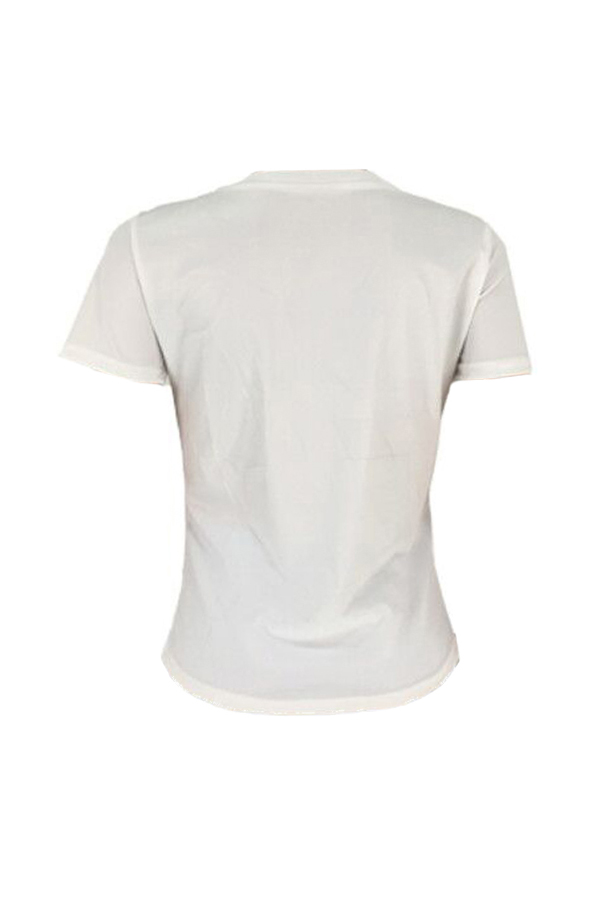 Lovely Casual Letter Printed White T-shirt