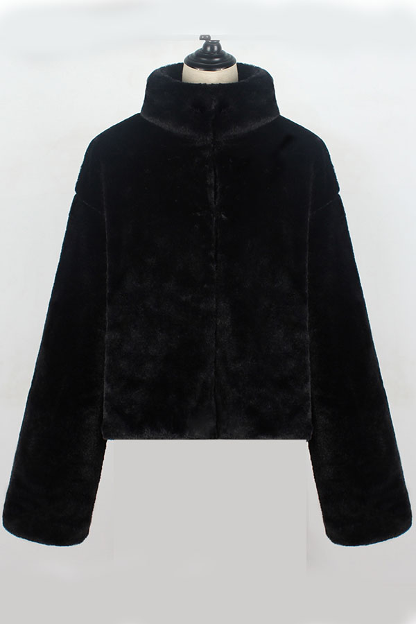 Lovely Trendy Long Sleeves Black Coat