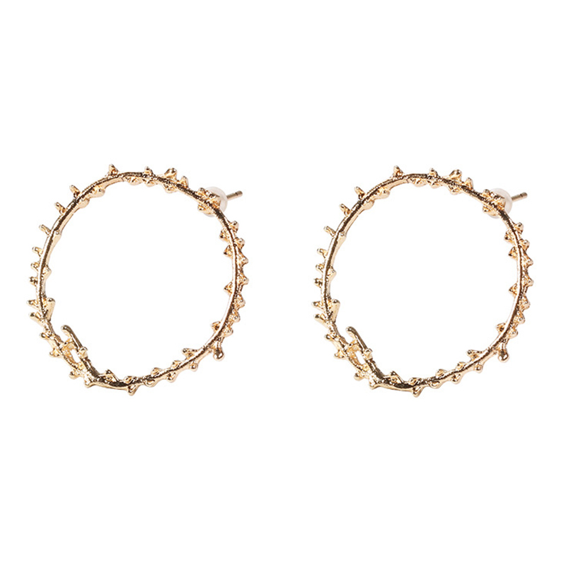 Lovely Trendy Gold Alloy Earring