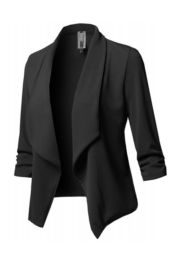 Lovely Trendy Lapel Black Blazer