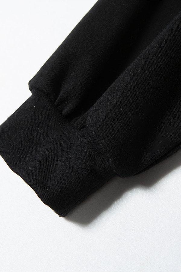 Lovely Casual Leopard Printed Black Sweatshirt Hoodie