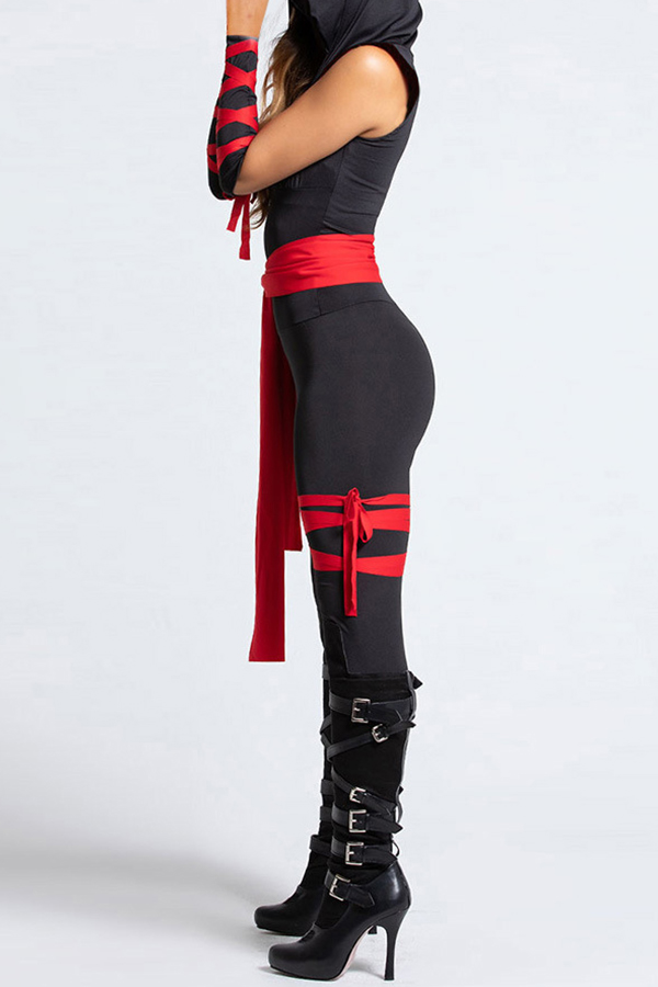 Lovely Hallowmas Cosplay Black One-piece Jumpsuit