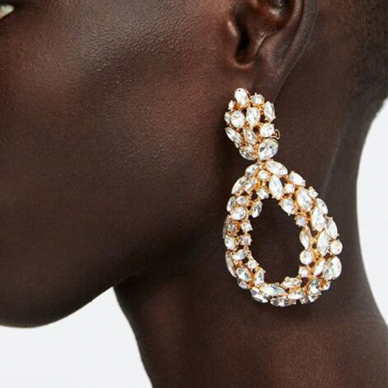 Lovely Trendy Hollow-out White Alloy Earring