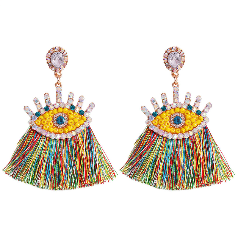 Lovely Trendy Tassel Design Multicolor Alloy Earring