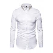 Lovely Casual Turndown Collar White Shirt