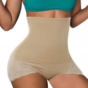 Lovely Trendy Patchwork Khaki Panties