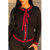 Lovely Chic Patchwork Black Cardigans