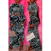 Lovely Casual Half A Turtleneck Printed Two-piece