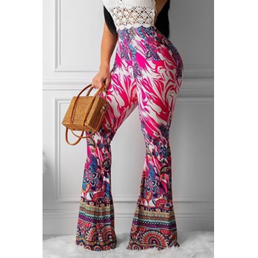 Lovely Trendy Printed Red Pants