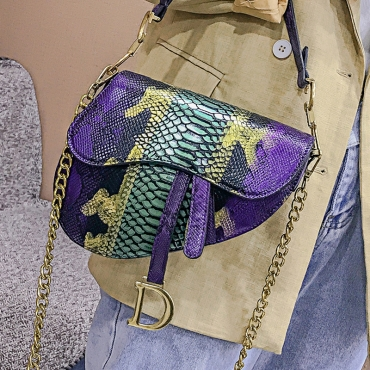Lovely Chic Snakeskin Printed Messenger Bag