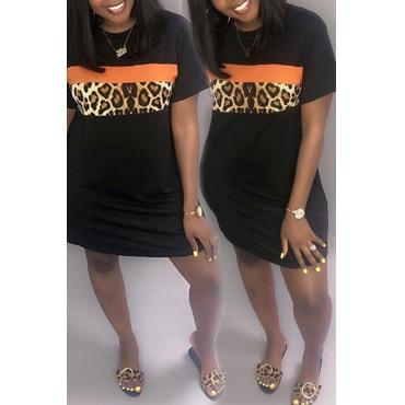 Lovely Casual Printed Black Mini Dress