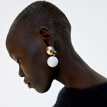 Lovely Sweet White Alloy Earring