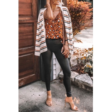 Lovely Striped White Cardigan