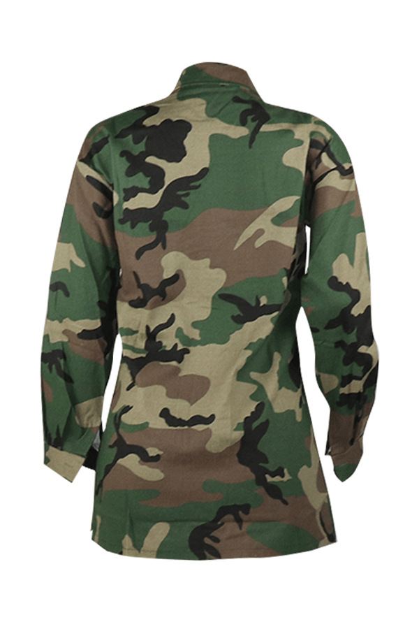 Lovely Casual Sequined Decorative Camouflage Print