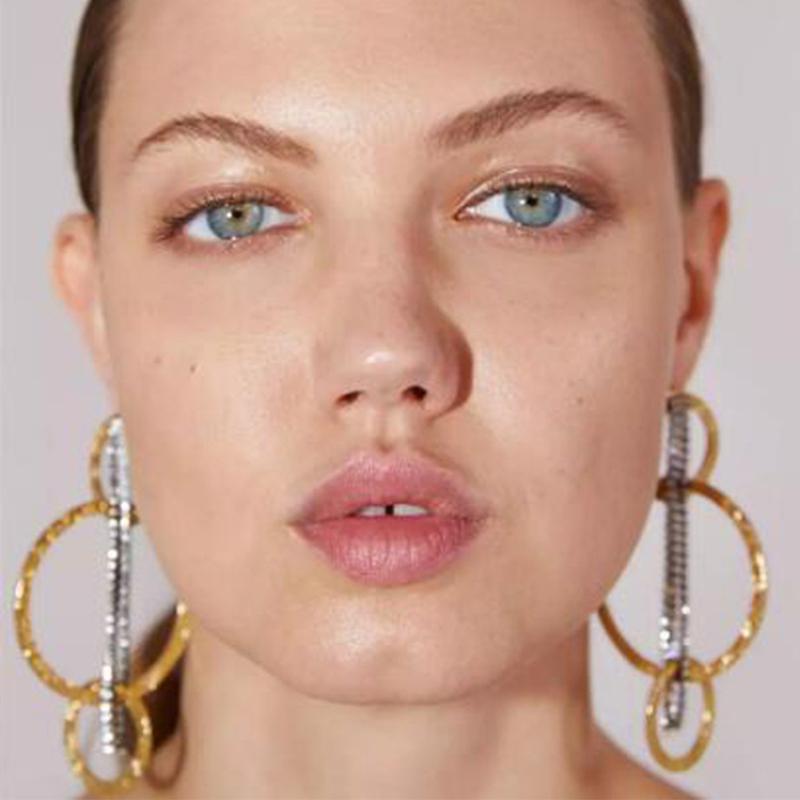 Lovely Trendy Geometric Gold Earring