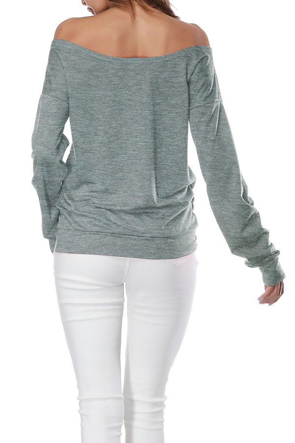 Lovely Casual Lip Printed Grey Sweatshirt Hoodie