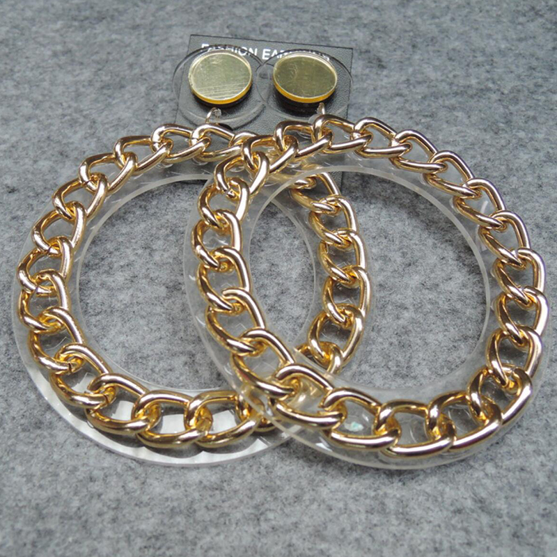 Lovely Chic Big Gold Earring