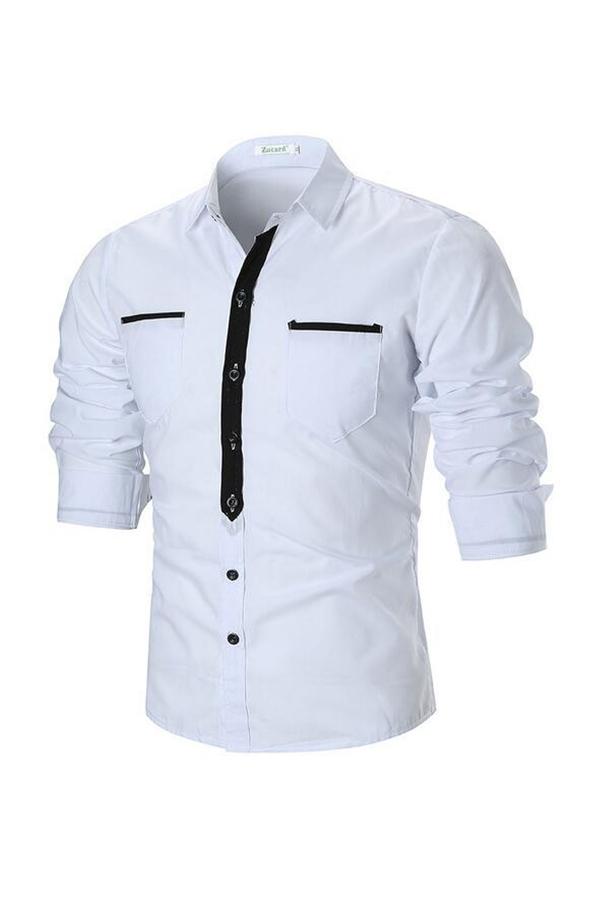 Lovely Trendy Turndown Collar White Shirt