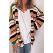 Lovely Striped Multicolor Cardigan