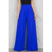 Lovely Casual Loose Blue Pants
