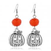 Lovely Chic Pumpkin Silver Earring