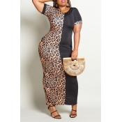 Lovely Casual Leopard Printed Ankle Length Plus Si