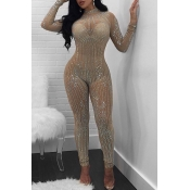 Lovely Sexy Hot Drilling Decorative One-piece Jumpsuit