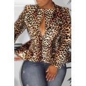 Lovely Trendy Leopard Printed Blazer