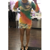 Lovely Trendy Hollow-out Printed Multicolor Mini D