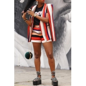 Lovely Casual Striped Multicolor Two-piece Shorts