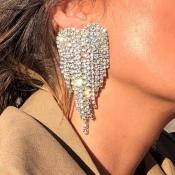 Lovely Trendy Tassel Design Silver Alloy Earring