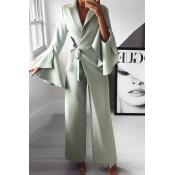 Lovely Temperament Asymmetrical Green One-piece Ju