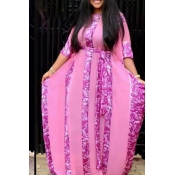 Lovely Casual Loose Pink Plus Size Two-piece Skirt