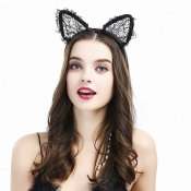 Lovely Trendy Lace Black Hairpin