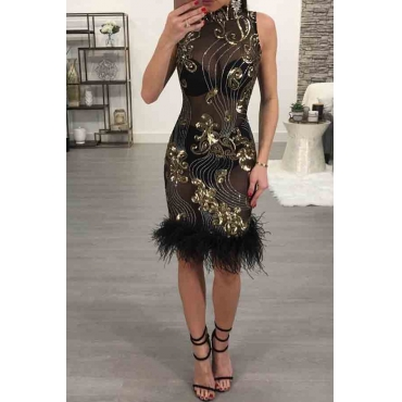 Lovely Sexy See-through Black Mini Prom Dress(Without Lining)