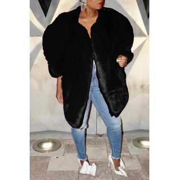 Lovely Sweet Winter Black Coat