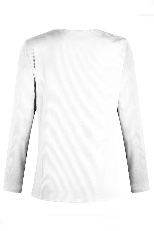 Lovely Casual Patchwork White T-shirt