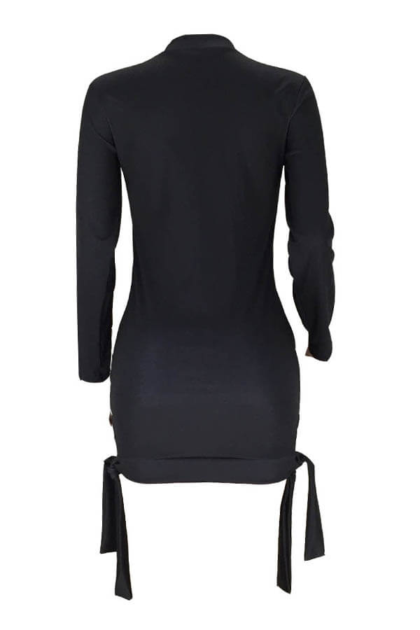 Lovely Casual Letter Printed Black Mini T-shirt Dress