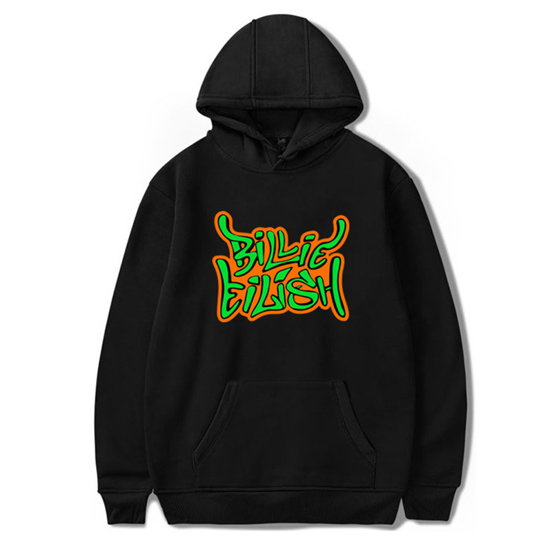 Lovely Street Hooded Collar Letter Printed Black Hoodie