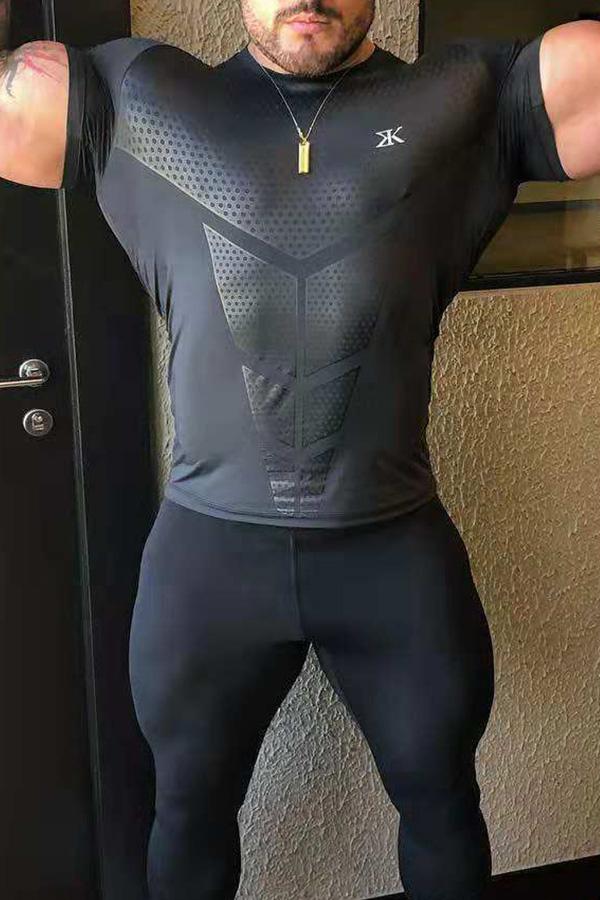 Lovely Sportswear Printed Black T-shirt